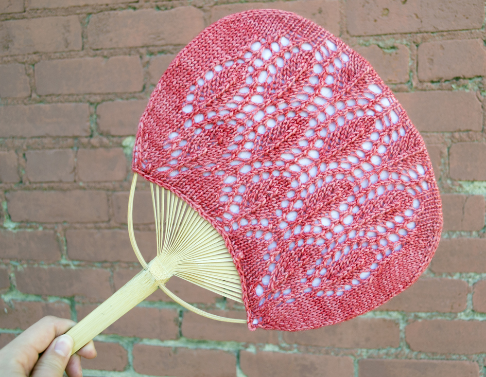 Karin's Fulton Fan - shown here in Squishy in Candied Apple.