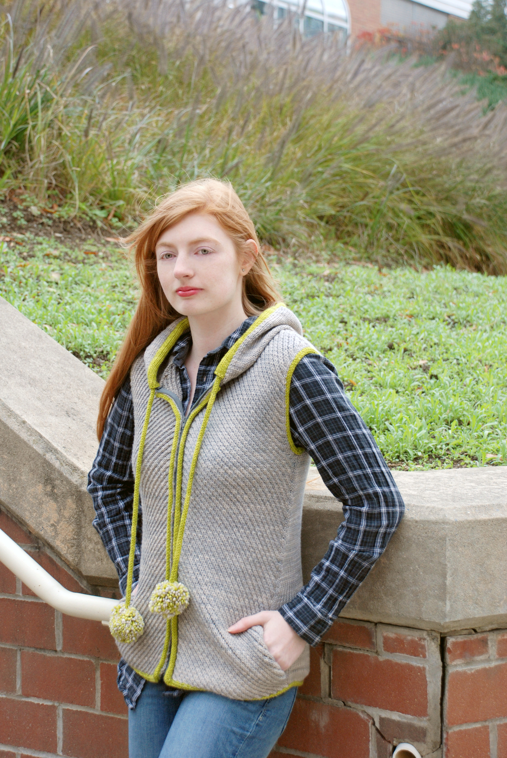 Limetta, knit in For Better or Worsted, shown in Seaside and Avocado.