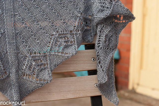Rockpool, knit in Milky Way, shown in Slate.