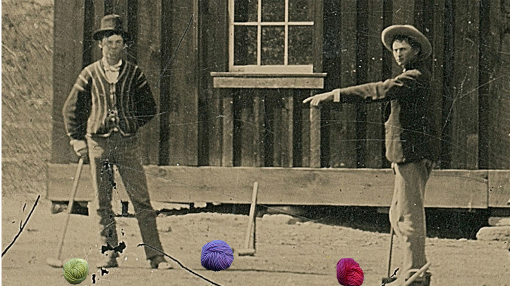 Wait, those croquet balls look peculiar...