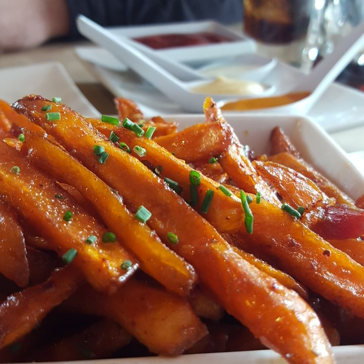 """January 27: """"Truffle maple bacon fries. Better than so many things in life."""" at Umami Burger in Santa Monica."""