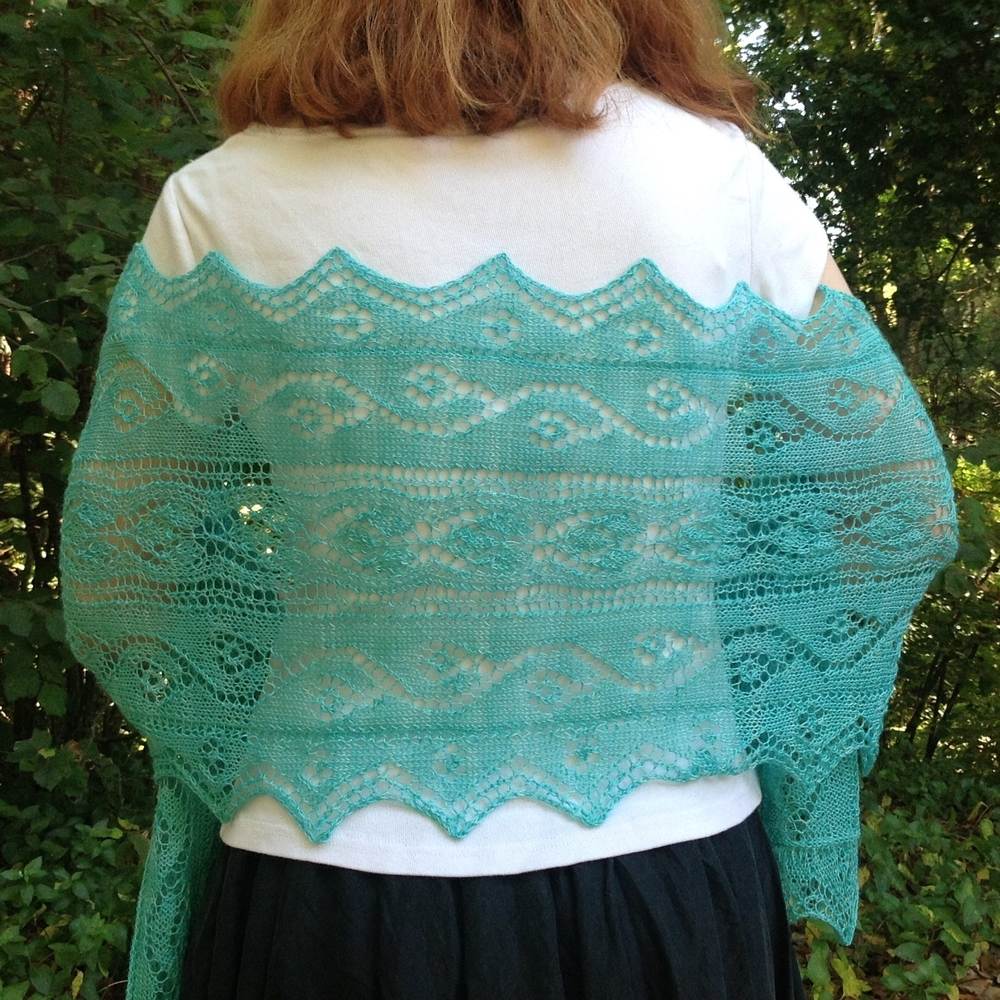 Roxanne Shawl in Meridian, colorway Alice