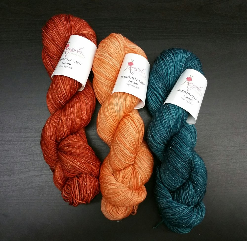 Lunaris in Rust, Creamsicle and Mariana