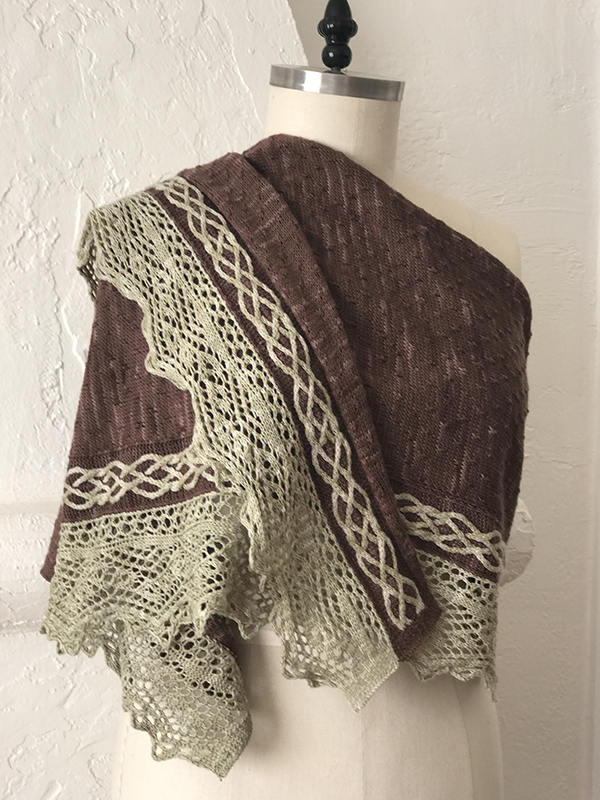 Escondido Falls Shawl in Clay & Teddy Anzula Gerty.