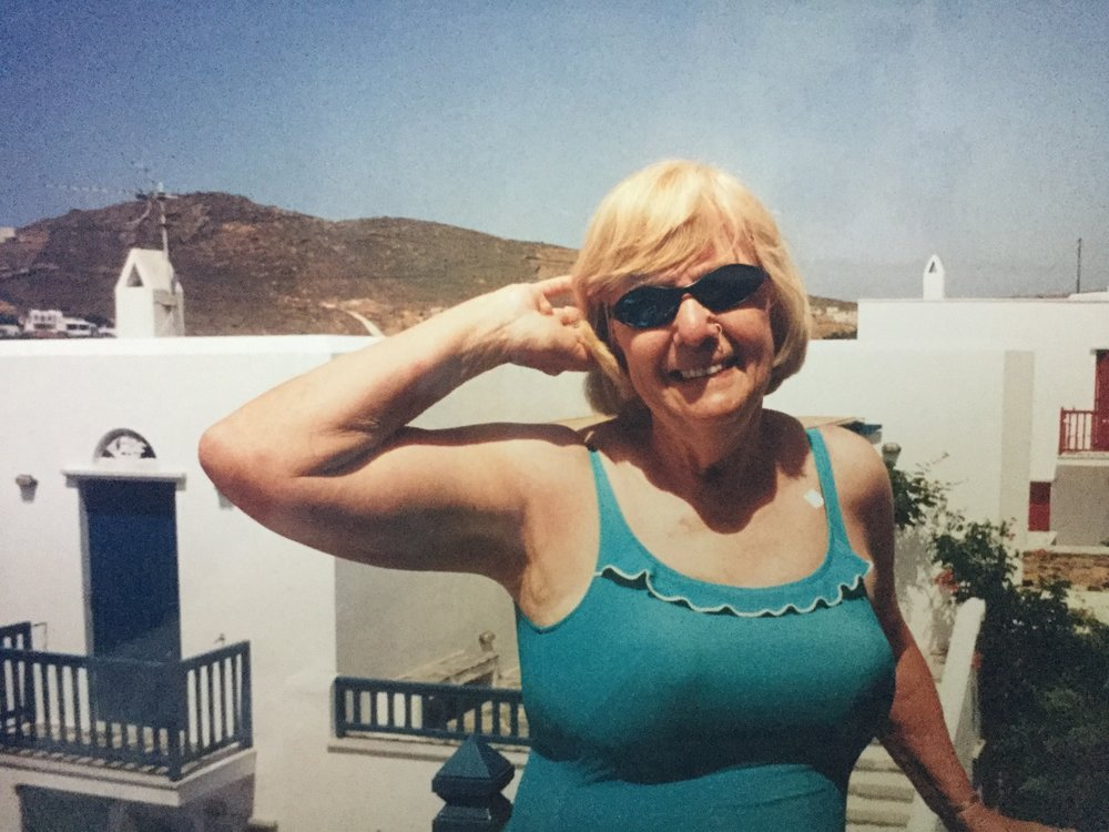 Grams, being awesome, in Tinos, Greece.