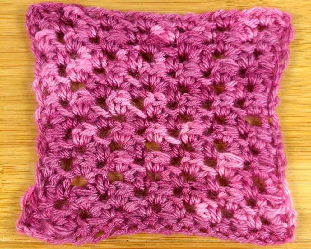 Serenity, crochet swatch - texture swatch