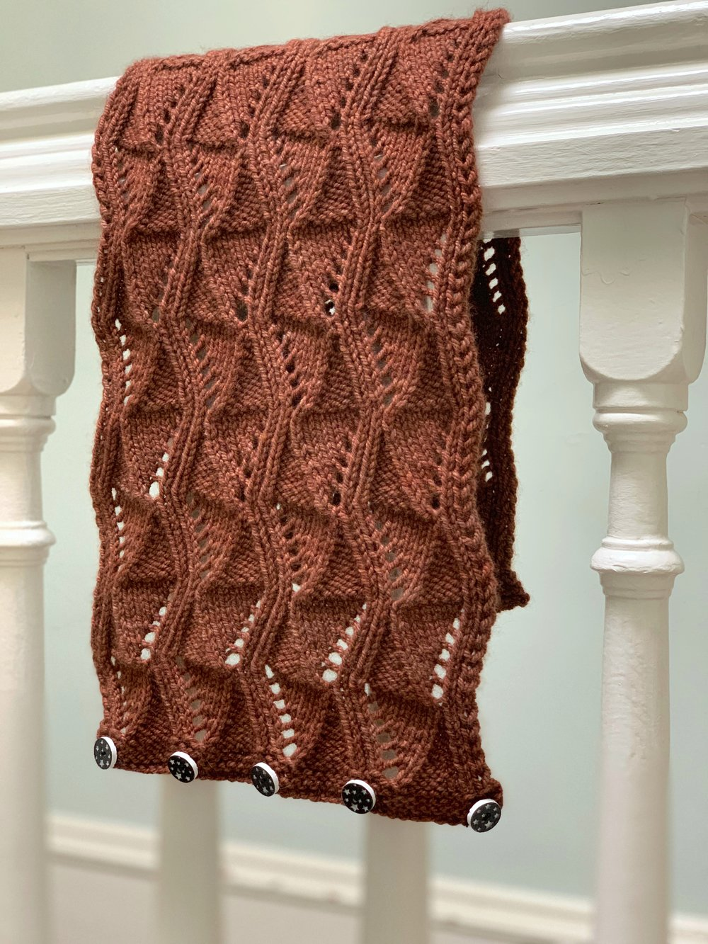 Acatalepsy knit with 2 skeins of Katara in Rust