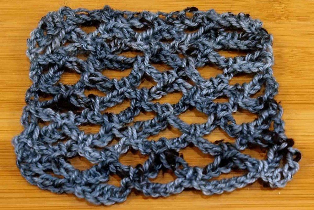 Dottie, lace crochet swatch