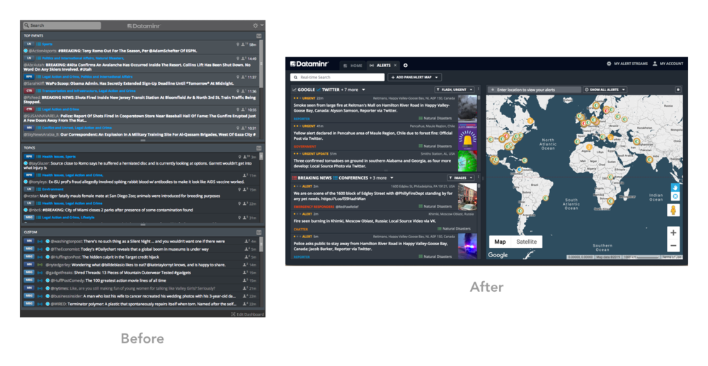 Dashboard, Before & After