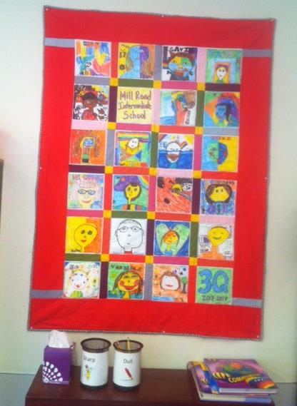 Classroom quilt created by my third graders