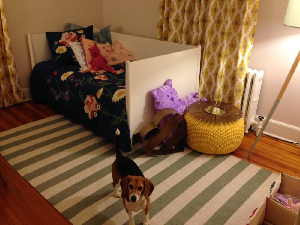 Frannie wanted to help set up her sister's room