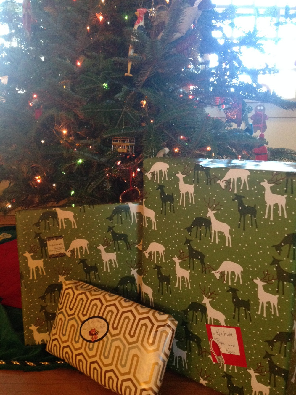 Gifts for K under the tree