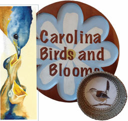 """Carolina Birds and Blooms"""