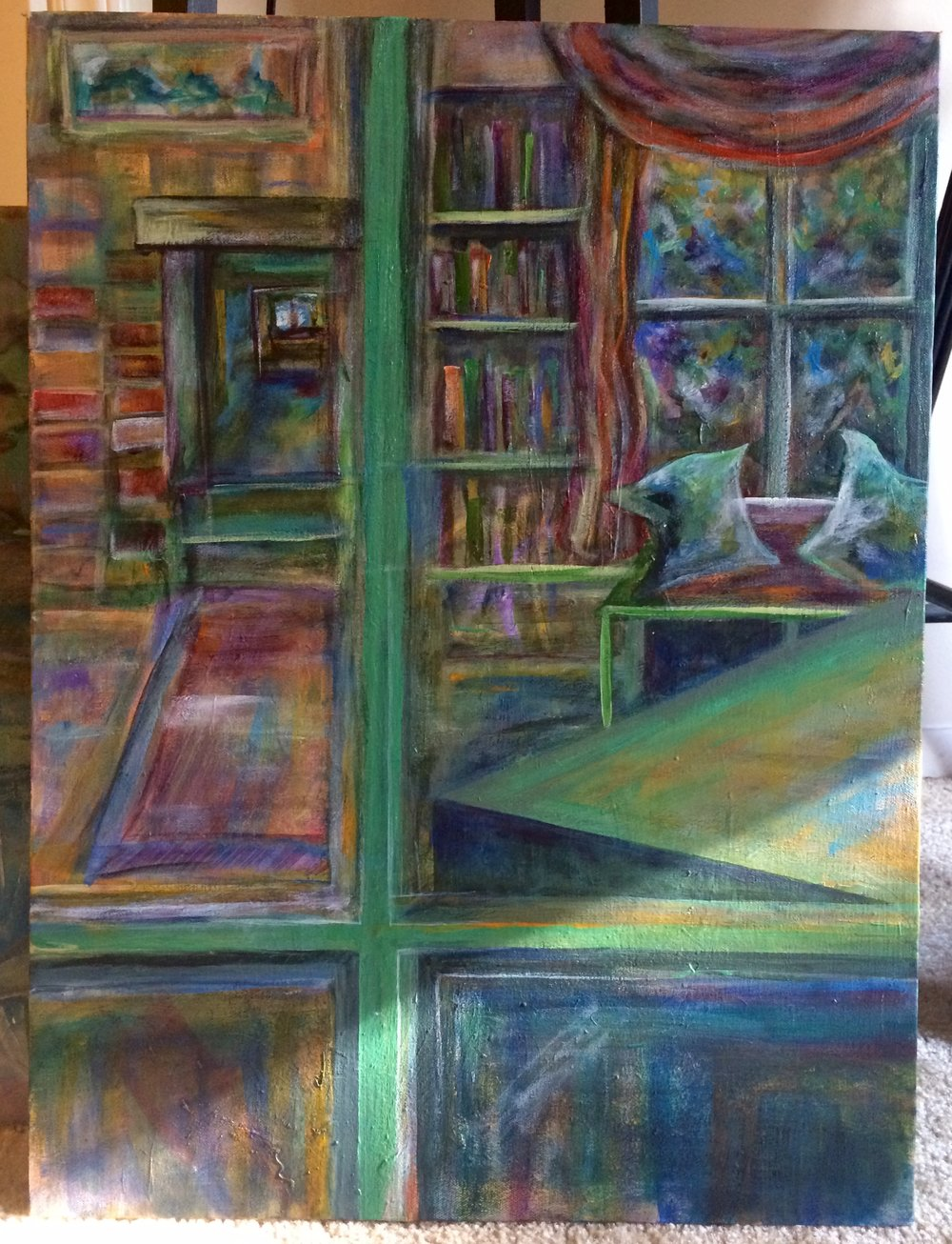 Reception for acrylic artist madeleine murray at caffe driade 2nd friday artwalk - Cafe driade ...