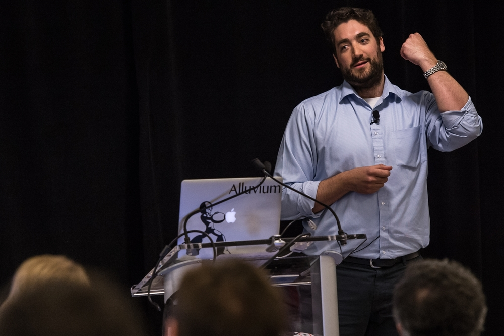Drew speaking at 2016 NYC R Conference