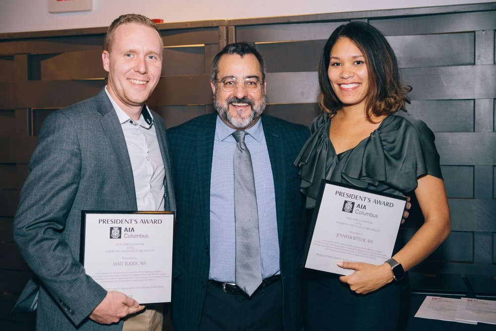 Congrats to our very own   Matthew Toddy, AIA, NCARB   for winning The Presidents Award last week at the AIA Columbus Design Awards for his work on ARCHway! This mentorship program is a six session program that aims to connect young architects with firm leaders in the Columbus architectural community. Through thought provoking sessions, participants will experience multiple modes of interaction such as group mentoring, reverse mentoring, and peer mentoring.  https://www.youtube.com/watch?v=KVDaVdZP70c#action=share