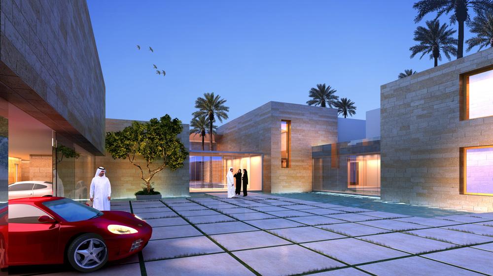Large villa street view (rendering)   
