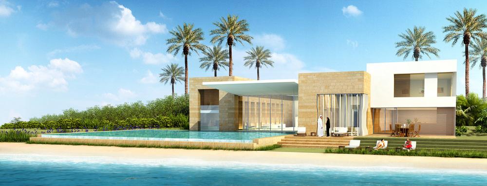 Medium villa beach view (rendering)   