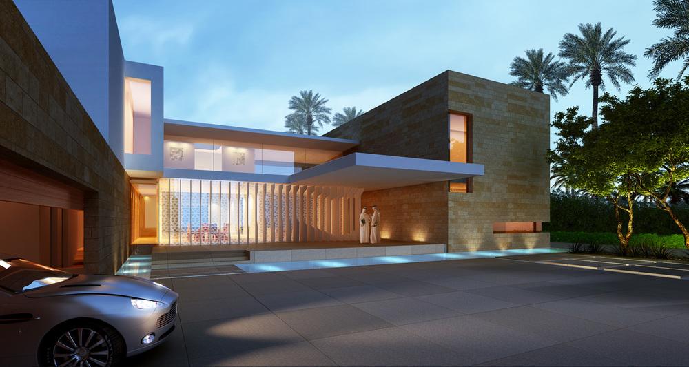 Medium villa street view (rendering)   