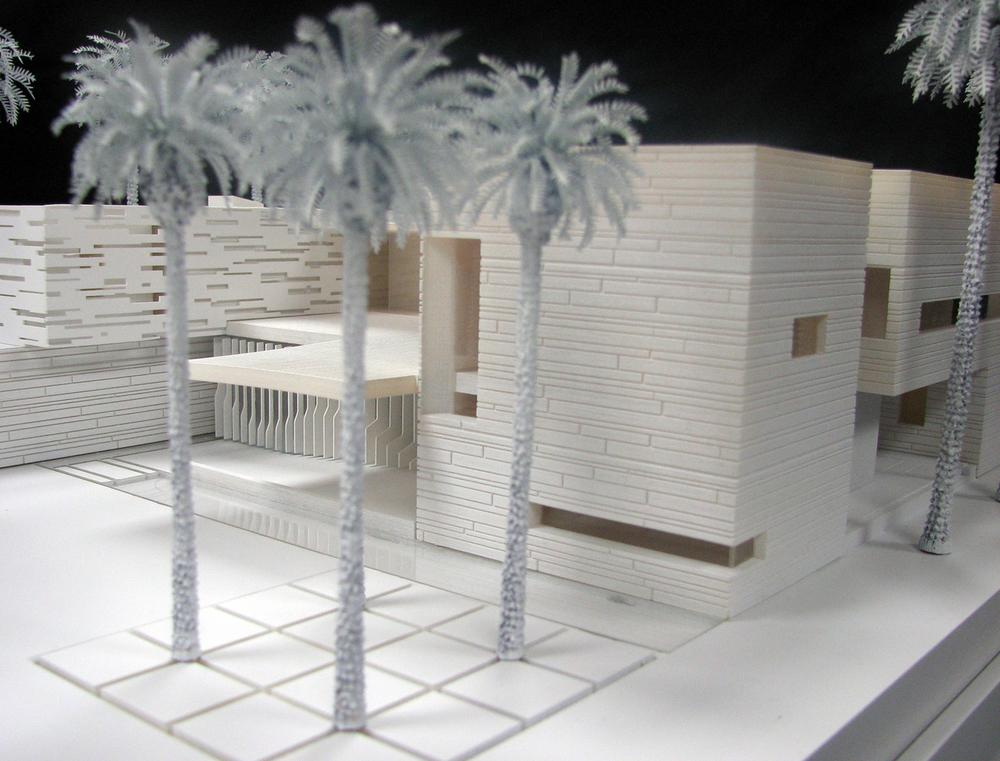 Medium villa detail view (3d printed model)   