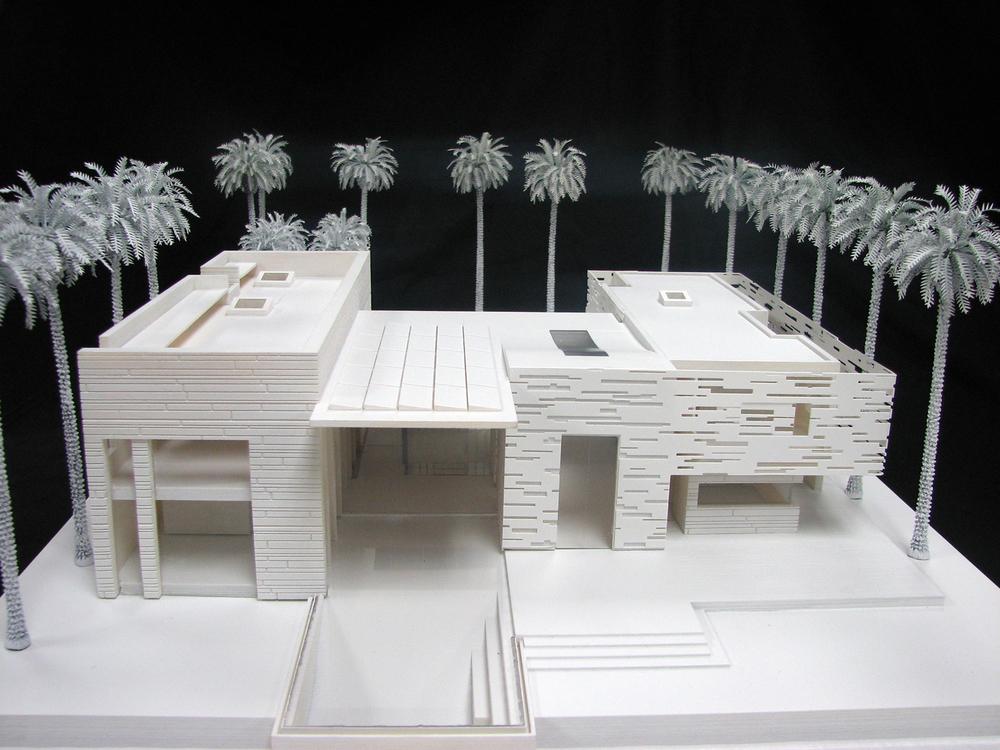 Medium villa beach view (3d printed model)   