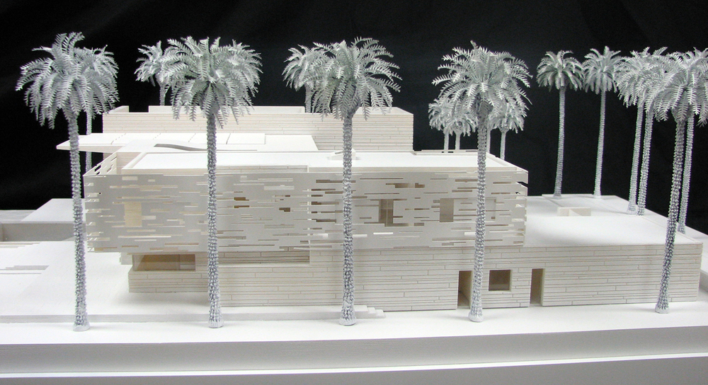 Medium villa side view (3d printed model)   