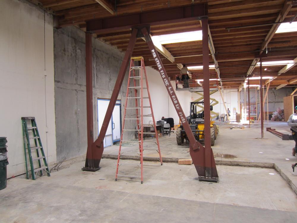 Structural retrofit braced frame (construction)   