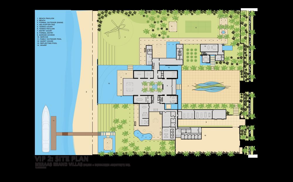 X-Large villa site plan (schematic design)    