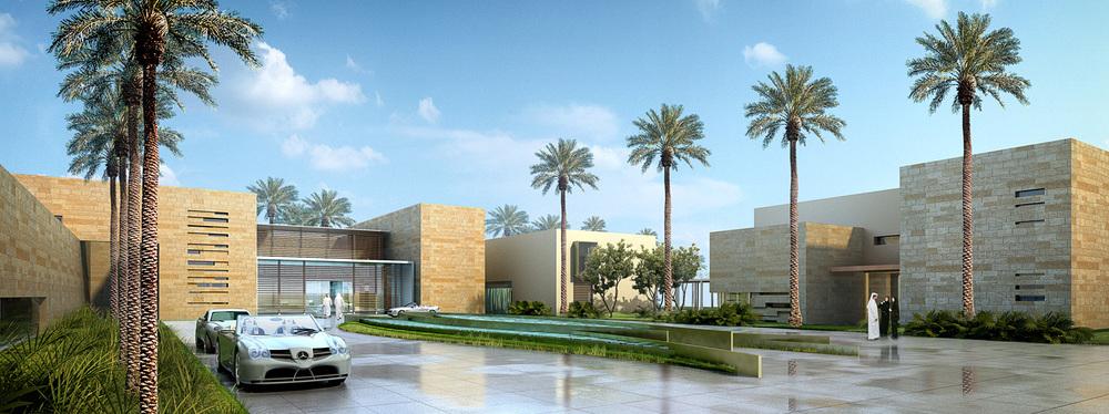 X-Large villa street view (rendering)   