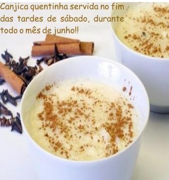 Para entrar no clima das festas juninas, serviremos nossa deliciosa canjica todos os sábados, as 17hs, durante o mês de Junho!!