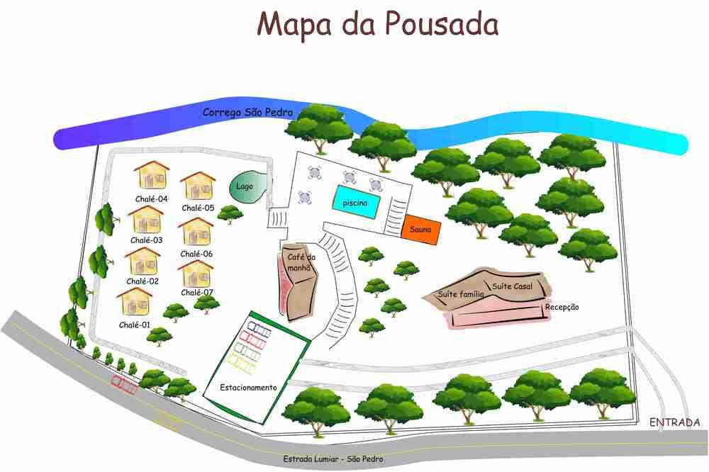 Mapa da Pousada