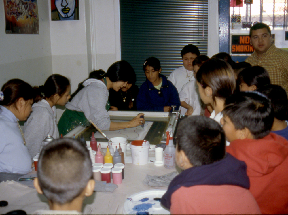 onoprinting class, Self Help Graphics, Los Angeles, CA. 2000 NEA Artists & Communities Residency