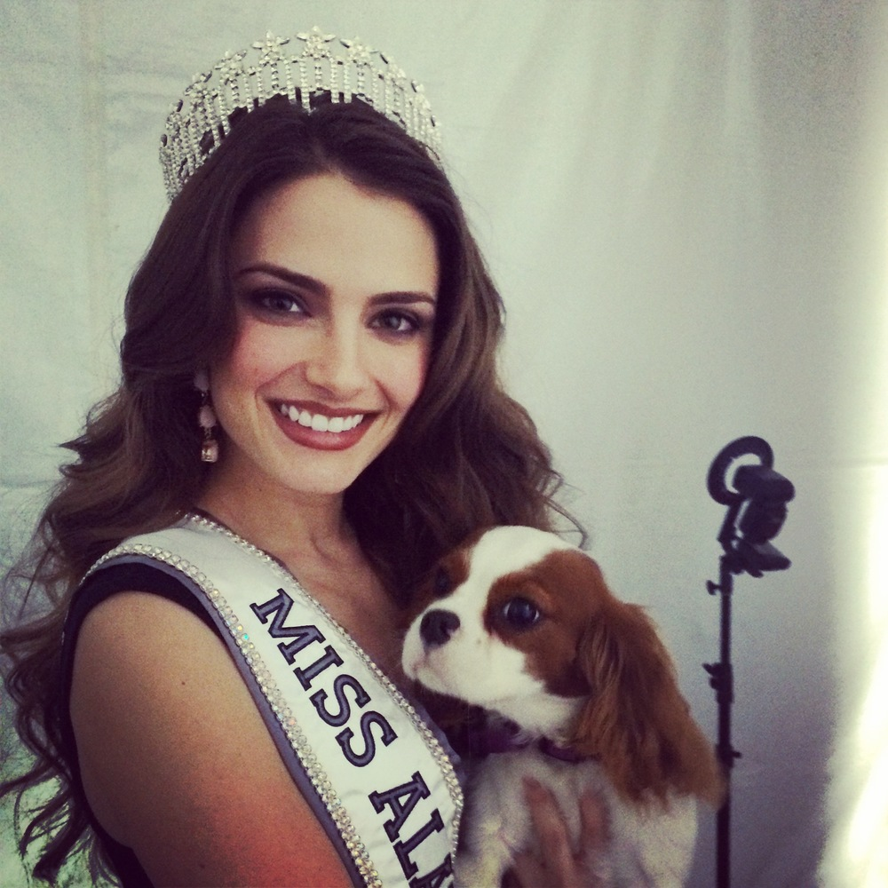 Lily loved meeting Miss Alabama USA, Jesica Ahlberg.