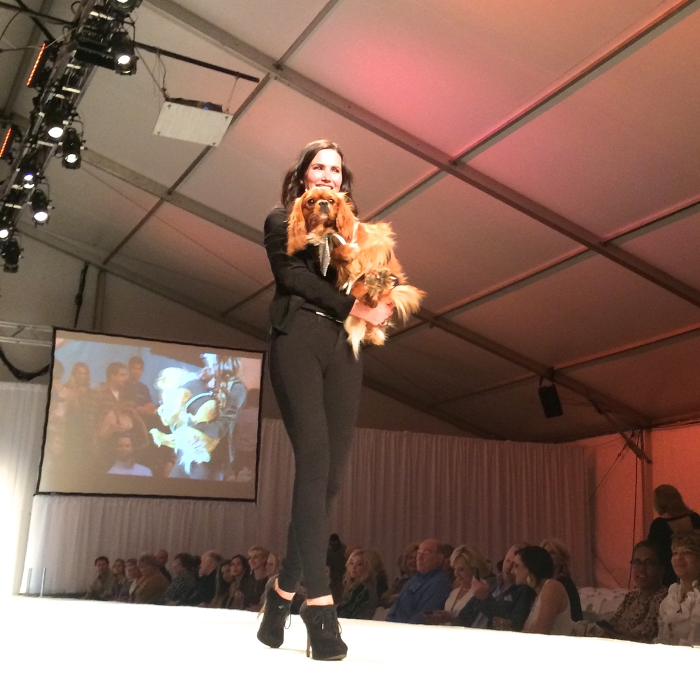 If anyone knew the way to work the runway, it was Buddy. This guy wasn't shy about finding his way into the arms of a model!