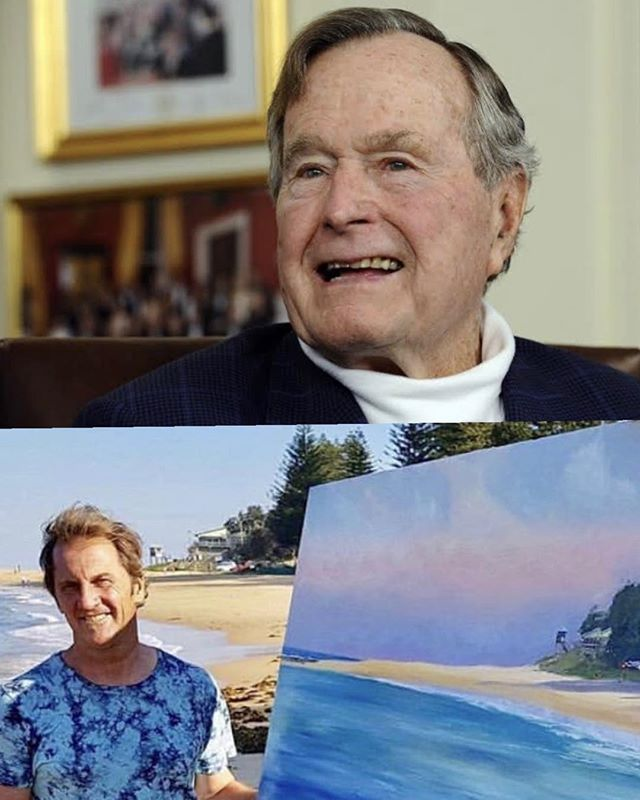 It was a few years ago but It was such a great honour that President George Bush Senior brought two artworks of mine through a charity that I supported in the US to help the homeless and underprivileged.. The two artworks happened to be Central Coast scenes! I think this shows it can happen to anyone when we just help others and put other people first than it surprisingly comes back and we are Blessed. 'Rest In Peace Mr Bush'.