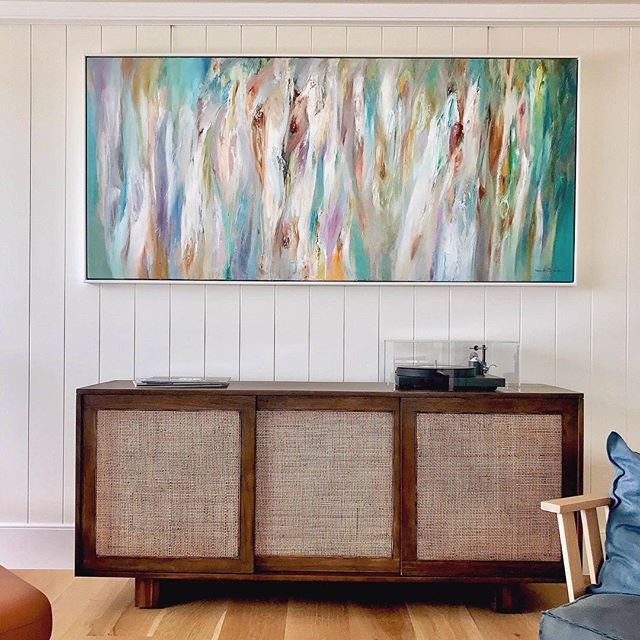 RIVER GUMS Oil on Board // 204 x 92  This piece from my Wine Australia Collection found a home in a new modern beach house on the coast sounded by ocean views.. Sometimes a breakaway is good to stand alone rather than competing with the views. . . . #art #artistsoninstagram #modernart #modernhome #abstractart #contemporaryart #interiordesign #wineaustralia #oilonboard #oilpainting #artgallery #painting #fineart #collectableart #nealejoseph