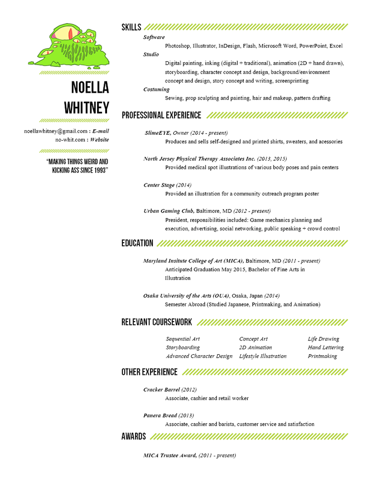 Concept Artist Resume Images Resume Format Examples 2018