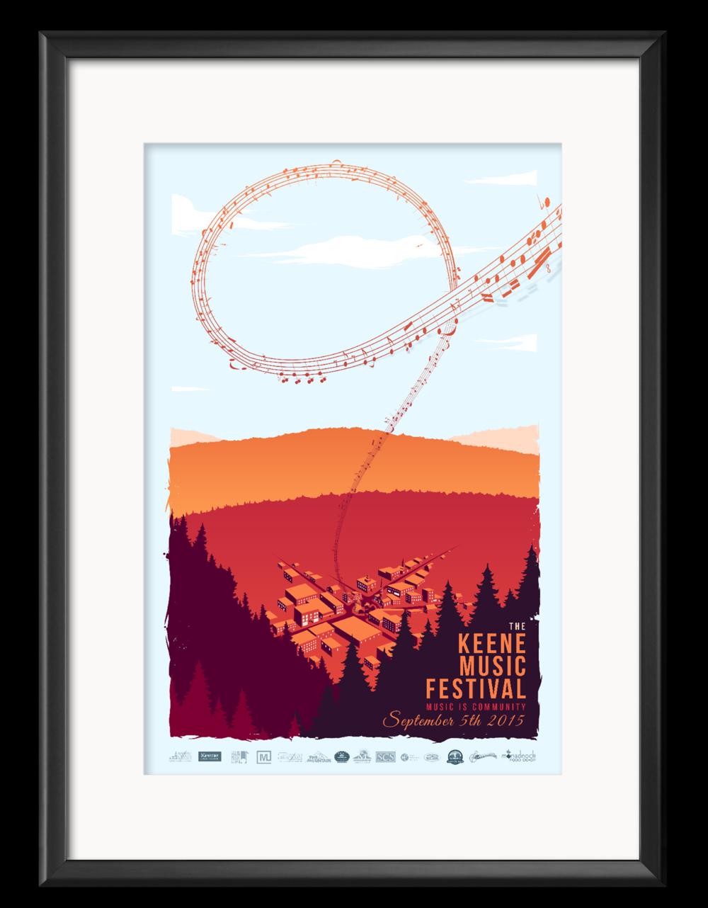The 2015 Keene Music Festival Poster created by Matt Sebert.