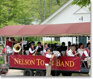 Nelson Town Band on Train