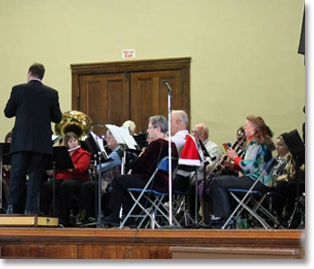 Winchester Community Band in concert