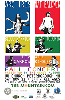 Glass Museum annual fall concert poster