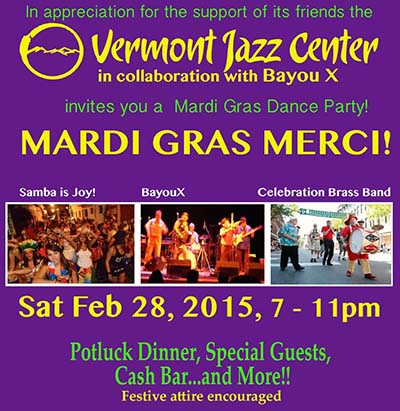 VJC Mardi Gras poster