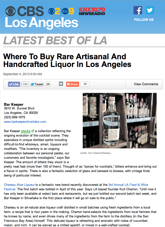CBS BEST of LA  September 2013