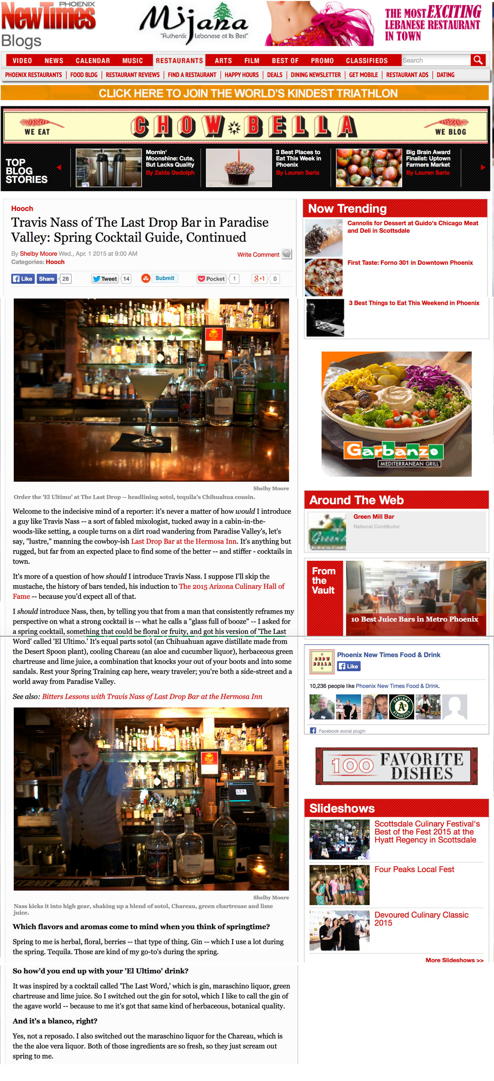 PHOENIX NEW TIMES April 2015