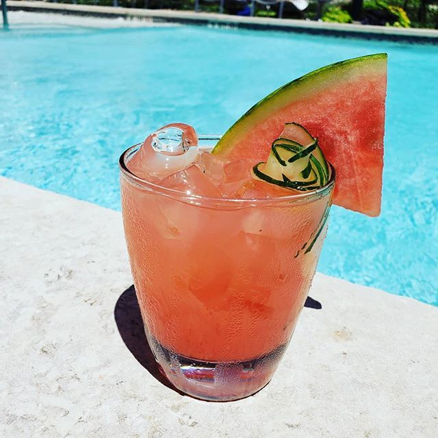 Cynthia Gonzalez - Watermelon Sangria: 1 medium size watermelon, 1 bottle Dry white wine, 8 oz Agave Gin, 6 oz Aloe Liquor, 4 oz Ketelone, Botanical Cucumber & Mint, 3 squeezed limes. Yields 1 Gallon.