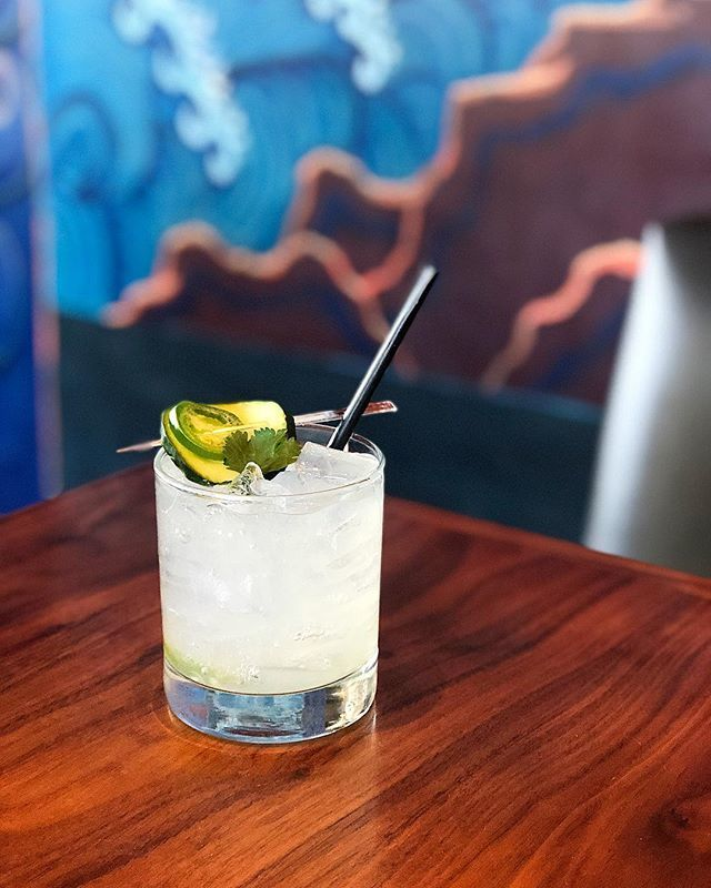 "Katie Benford - ""Tequila Caliente"" : 1.5 oz Casamigos, .75 oz chareau, .75 oz lime juice, .75 oz agave, 4 muddled cucumbers, 3 muddled jalapeño & 4 leaves cilantro"