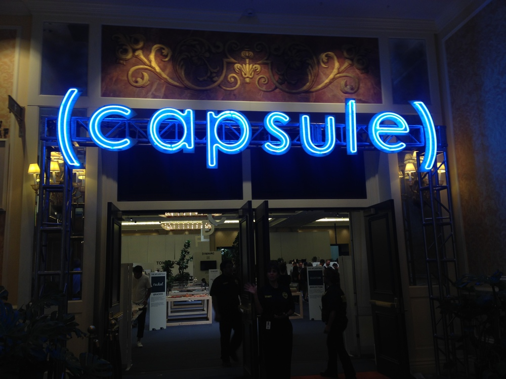 Capsule Show's Sign. This was the entrance to the Capsule Show in Las Vegas, August 2015.