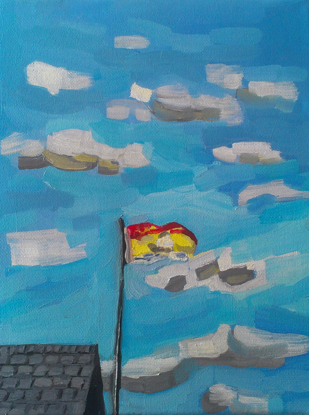 8 x 10 inches   oil and acrylic on canvas   2012