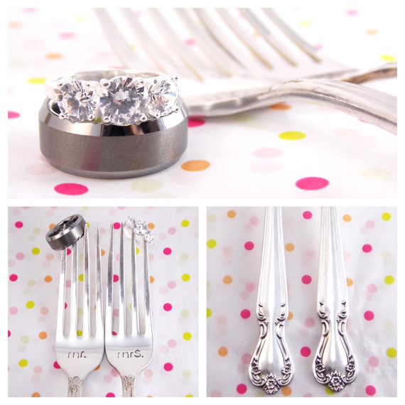 Vintage Bride & Groom Silverwear | JoAnna Dee Weddings