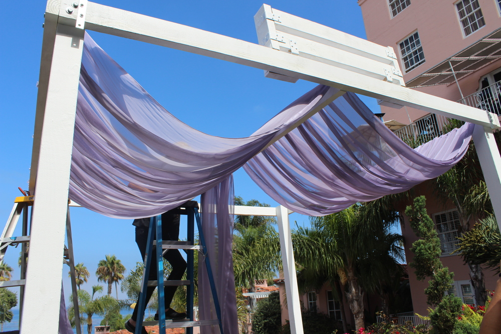 Structure of Wedding Canopy